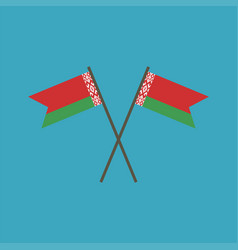 belarus flag icon in flat design vector image