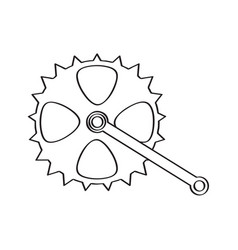 Bicycle gear sketch vector