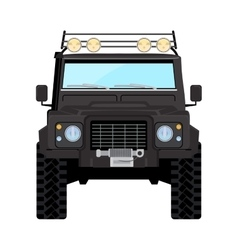 Black offroad car truck 4x4 vector