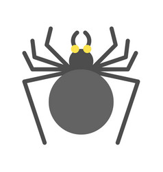 black spider halloween related icon flat design vector image