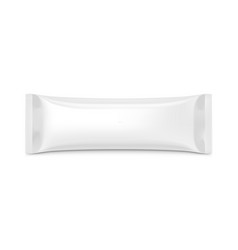 blank plastic pouch snack packaging on white vector image
