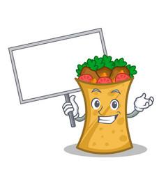 bring board kebab wrap character cartoon vector image