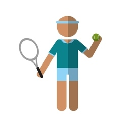 character player tennis and ball racket vector image