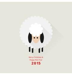 Christmas sheep greeting card vector image