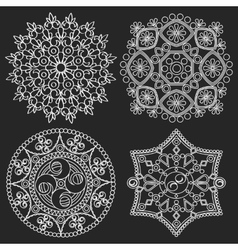 Circular ornament Round pattern mandala vector