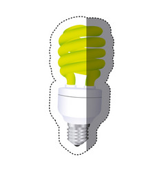 City bulb energy icon vector