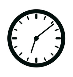 clock time minute isolated linear style icon vector image