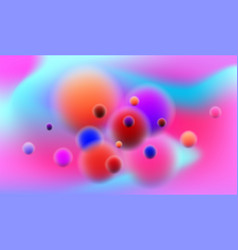 Colorful background with futuristic bubbled vector