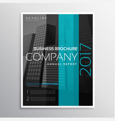 Company business magazine cover template of vector