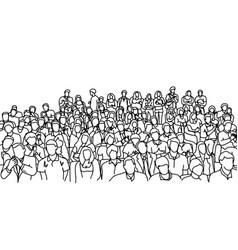 Crowd people in meeting slope room vector