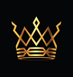 crown modern gold logo vector image