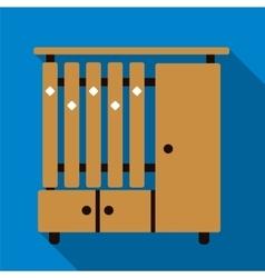 Cupboard flat icon vector