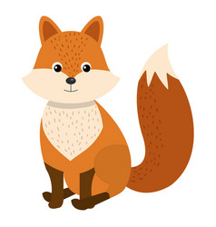 cute and tender fox vector image