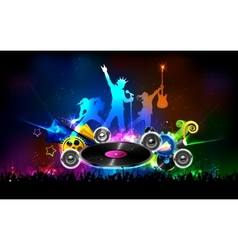 Disco Jockey Party Night vector image