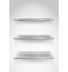 Display Shelves vector image