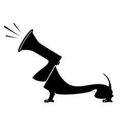 Dog and megaphone concept vector