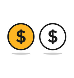 dollar coins graphic icon design template vector image