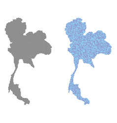 dotted thailand map abstractions vector image