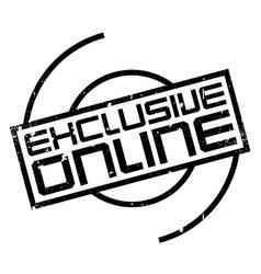 Exclusive online rubber stamp vector