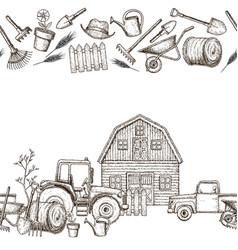 Farming agricultural borders vector