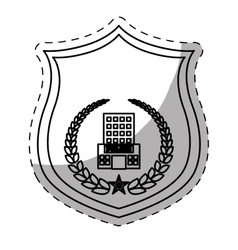 Figure police badge icon image vector