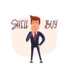 Financial market businessman vector