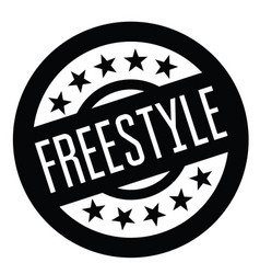 Freestyle stamp in italian vector