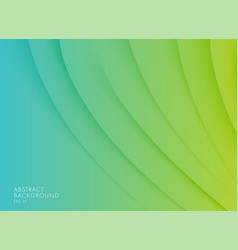 Geen to blue gradient curves and waves abstract vector