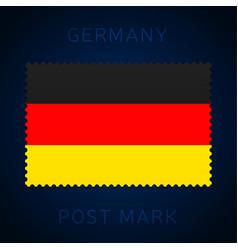 germany postage mark national flag postage stamp vector image