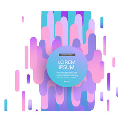Glitch background with distortion effect in trendy vector
