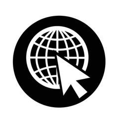 Go to web icon design vector