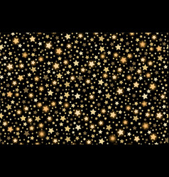 gold shining falling stars seamless texture gold vector image