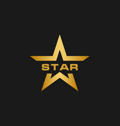 golden star logo design template vector image