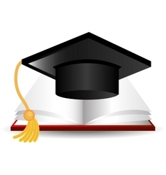 Graduate education design vector image vector image