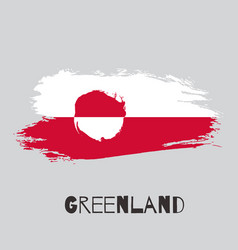 Greenland watercolor national country flag icon vector