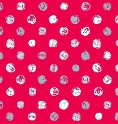 Grunge Polka Seamless Pattern vector image