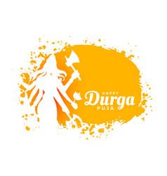 Happy durga pooja indian festival card design vector