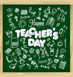 happy teacher s day in vector image