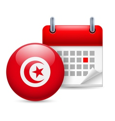 Icon of National Day in Tunisia vector