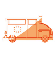 Isolated ambulance truck vector