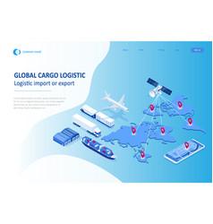 Isometric global logistics network concept vector