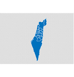 Israel palestine map - high detailed blue map vector