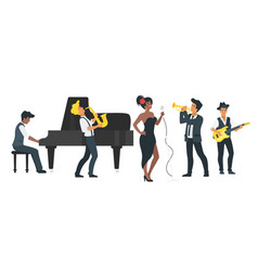 jazz band design vector image