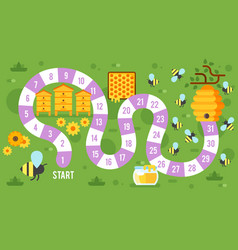 Kids honey board game vector