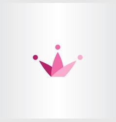 king crown symbol element icon logo design vector image