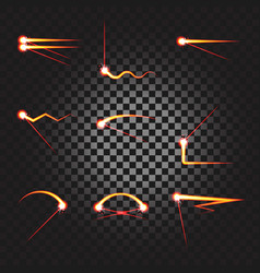 laser cutting or welding trace effect vector image