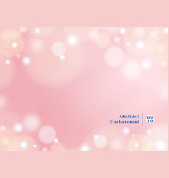 light gradient pink background with round bokeh vector image