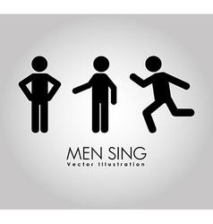men sign design vector image