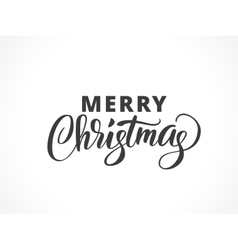 Merry christmas typography with brush lettering vector