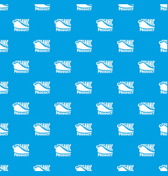 organic bio product pattern seamless blue vector image